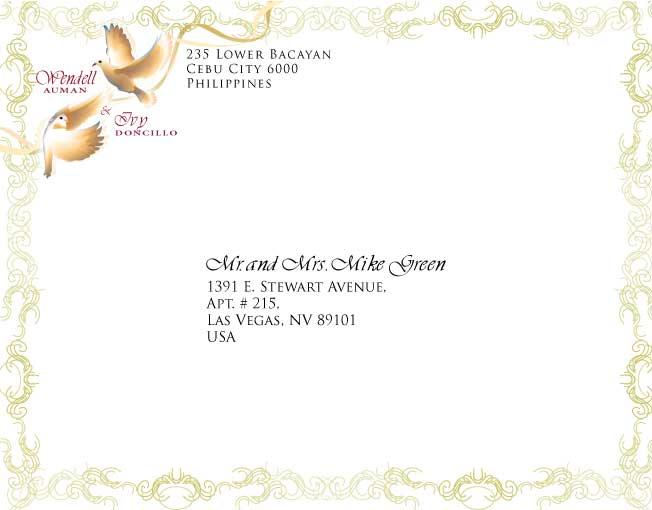 Invitation card designs wendell ivy wedding envelope stopboris Image collections