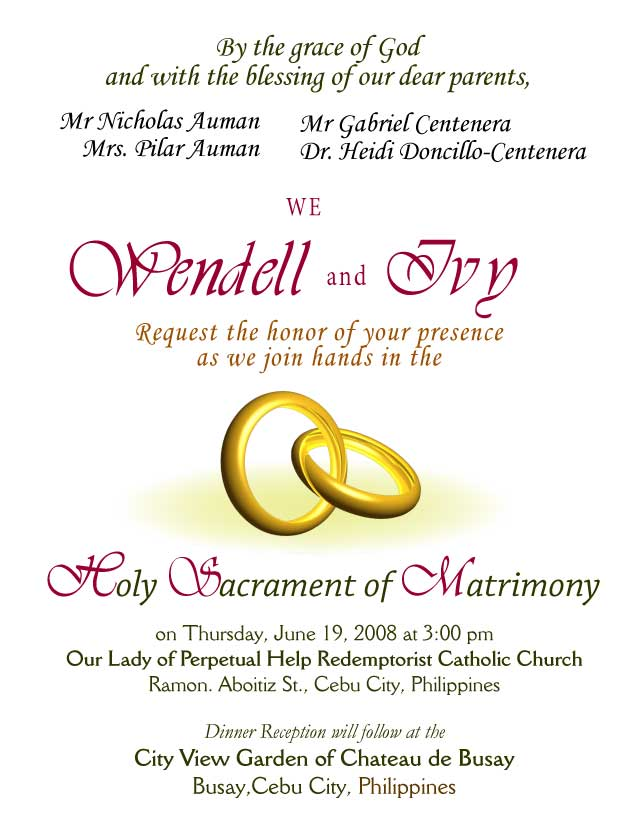 Wedding Invitation Letter Design 2 Rings 2