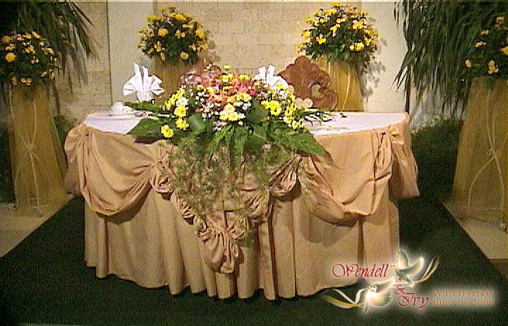 Wedding table skirting design unique wedding ideas vineeta s blog we couldn 39t resist the buffet table that amy watchthetrailerfo