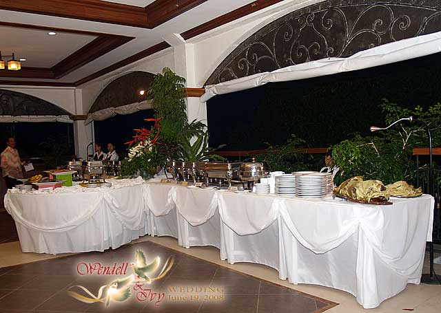 Wedding Buffet Table Setup The buffet table setting