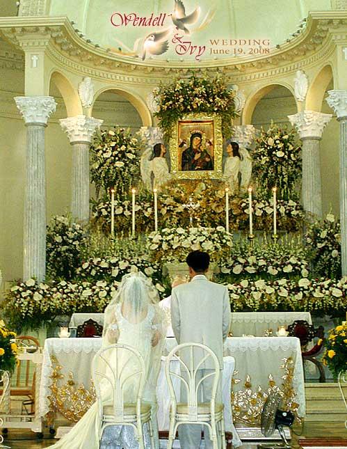 WendellIvy wedding Redemptorist church altar1 Types Of Church Wedding Gowns