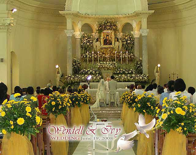 Cebu Redemptorist Church Wedding Seating Arrangement The Redemptorist