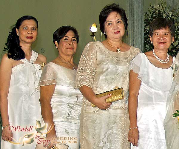 Principal Wedding Sponsor Gowns: Redemptorist Church Wedding Pictorial
