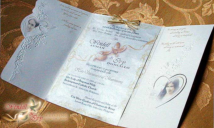 Parts Of Wedding Invitation: Wendell & Ivy Wedding